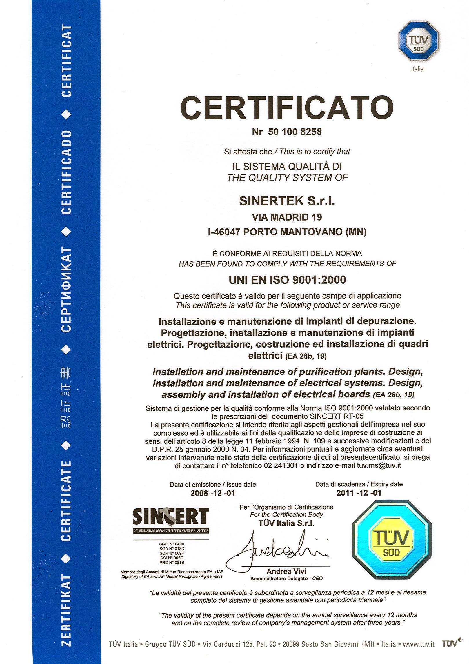 Mobili e arredamento certificazione impianto elettrico norma - Certificazione impianti casa ...